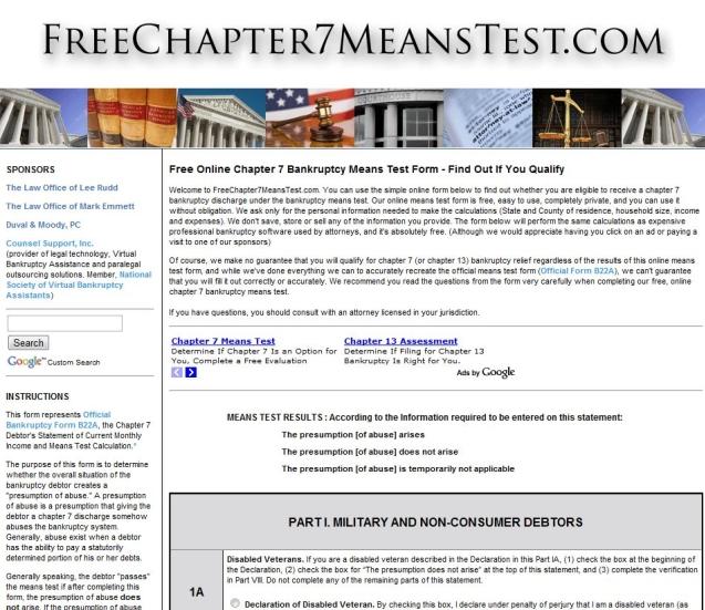 means test form for bankruptcy for kansas